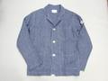 ARVOR MAREE アルボーマレー フレンチリネンカバーオールジャケット (ブルー)