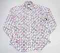 砧 キヌタ 長袖和柄B/Dシャツ(縁起物トリコ)