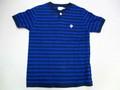 ARVOR MAREE アルボーマレー 半袖ボーダーヘンリーTシャツ(ネイビー×ロイヤル)