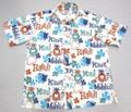 SUNSURF サンサーフ 半袖 マスクドマーベルB/Dシャツ(PINEAPPLE HEAVEN ホワイト)