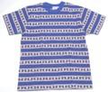 SUGAR CANE  シュガーケーン 半袖ジャガードTシャツ(ブルー)