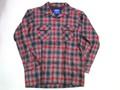PENDLETON ペンドルトン ウールボードシャツ(ブラック レッド オンブレー)