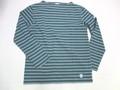 ORCIVAL オーチバル 長袖バスクシャツ(Dグリーン×トープ)