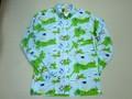 BURBANK バーバンク 長袖フルオープンB/Dシャツ(ヨットマップ)