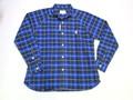 ARVOR MAREE アルボーマレー 長袖オックスフォードチェックシャツ(ブラック×ブルー)