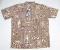 REYN SPOONER レインスプーナー 半袖プルオーバーB/Dシャツ(KAI TAPA COCOA)