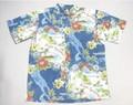 REYN SPOONER レインスプーナー 半袖フルオープンB/Dシャツ(STATUS OCEAN 地図 NAVY)