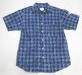ARVOR MAREE アルボーマレー 半袖オープンカラーシャツ(しぼりネイビー)