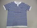 ARVOR MAREE アルボーマレー 半袖ボーダーヘンリーTシャツ(ホワイト×ロイヤル)