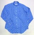 PINEWOOD パインウッド 長袖プリントB/Dシャツ(ブルー ドット キャット)