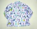SUNSURF サンサーフ シャグ ネルプリントオープンカラーシャツ(ラベンダー)