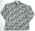 BURBANK バーバンク 長袖フルオープンB/Dシャツ(ネイビー ペイズリー)