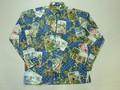 REYN SPOONER レインスプーナー 長袖フルオープンB/Dシャツ(2014 クリスマス ネイビー)