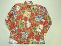 REYN SPOONER レインスプーナー 長袖フルオープンB/Dシャツ(2014 クリスマス レッド)