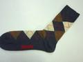 My Socks マイソックス コットンアーガイルソックス(チャコール)