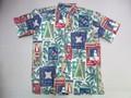 REYN SPOONER レインスプーナー 半袖フルオープンB/Dシャツ(HWN XMAS 08 NATURAL)