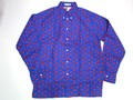 BURBANK バーバンク 長袖フルオープンB/Dシャツ(カニ ネイビー)