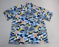 SUNSURF サンサーフ 半袖 シアサッカーオープンシャツ(ザ ビッグウェーブ ネイビー×イエロー)