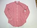 SERO セロ 長袖ブロードボタンダウンシャツ(レッドギンガム)