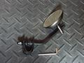 クランプ式ミラー丸型3インチ ブラック/クローム