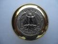 真鍮「ブラス」製25¢コインノブ®(シフトノブ)