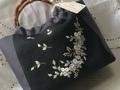リボン刺繍のバンブーBag
