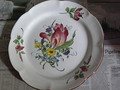 ER12P★118手描きの花が美しい大皿