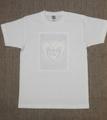 男女共用Tシャツ・XXLサイズ 「White Valentine」