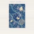 ポストカード 月光雨のネコ(宙)