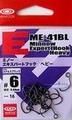ヴァンフック ME-41BL ミノーエキスパートフック(ヘビー) ステルスブラック 16本入り (VANFOOK Expert Hook stealth black)-E452