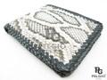 パイソン革の財布★二折★縁編み