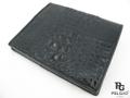 クロコダイル革★財布●黒色★縦型