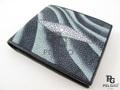 エイ革★二折りの財布★灰色