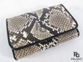パイソン革の長財布(小)★三折★自然色