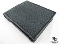 パイソン革の財布★二折★黒色