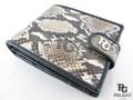 パイソン革の財布★二折★ボタン付き