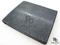 エイ革の財布★黒色★ポリッシュ