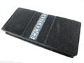 スティングレー・エイ革の長財布★黒色★二折★連石
