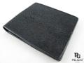 エイ革★二折りの財布★黒色★003