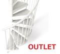 《OUTLET》TECHNEテクネ 直径123㎝ 屋内外用螺旋階段
