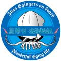 #4エギングステッカー『烏賊's Eginger』ブルー&ブラック