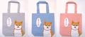 【生活雑貨】A4トートバッグ