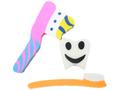 歯形+歯ブラシ消しゴム(3個入)