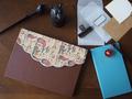 スカラップ付きのノートカバー 2個セット
