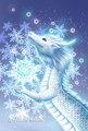 ポストカード:雪の龍
