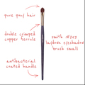 SmithCosmetics 253 LAYDOWN EYESHADOW BRUSH SMALL