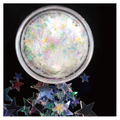 ATELIER RAISIN Starz Prism - Star Shaped White Iridescent Body Glitter