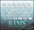 BAMS - Bad Ass Mini Stencilsi - The Expansion Set 36枚入り