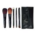 ROYAL & LANGNICKEL BRUSH ESSENTIALS™ BLACAK 5PC TRAVEL KIT