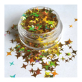 ATELIER RAISIN Shooting Starz - 4 Point Star, Holographic Gold,